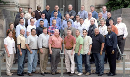 Pictured above are presidents and other officials from some of the nation's largest associations representing sworn personnel with state police, sheriff's departments and offices and other law enforcement agencies.